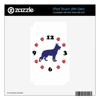 German Shepherd Clock Decals For iPod Touch 4G