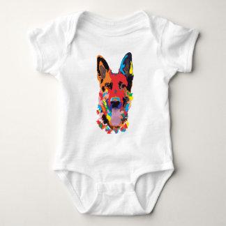 German shepherd color baby bodysuit