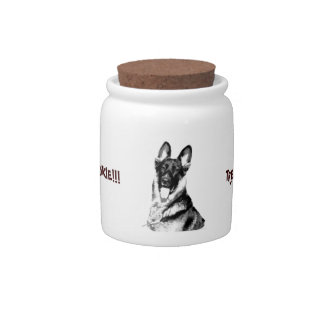 German Shepherd Cookie Jar Candy Jars