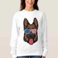 German Shepherd Cool American Patriot Sweatshirt