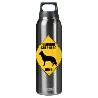 German Shepherd Crossing (XING) Sign SIGG Thermo 0.5L Insulated Bottle
