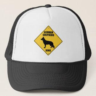 German Shepherd Crossing (XING) Sign Trucker Hat