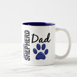German Shepherd Dad 2 Two-Tone Coffee Mug