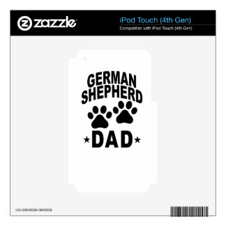 GERMAN SHEPHERD DAD DOG.png Decals For iPod Touch 4G