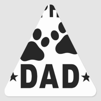 GERMAN SHEPHERD DAD DOG.png Triangle Sticker