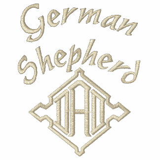German Shepherd DAD Gifts Embroidered Shirt