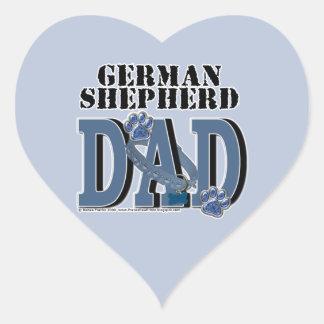 German Shepherd DAD Heart Sticker