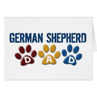 GERMAN SHEPHERD Dad Paw Print 1 Card