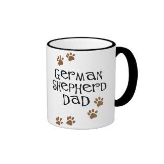 German Shepherd Dad Ringer Coffee Mug