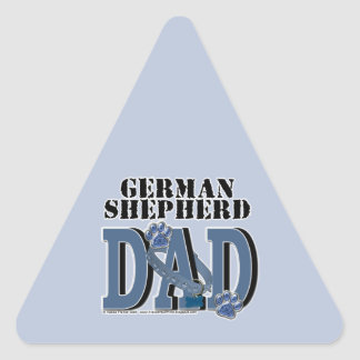 German Shepherd DAD Triangle Sticker
