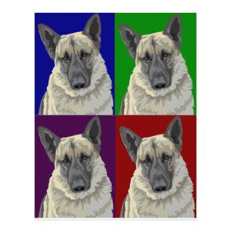 German Shepherd Dark Collage Full Color Flyer