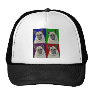 German Shepherd Dark Collage Mesh Hats