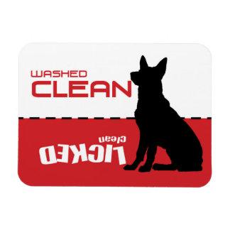 German Shepherd Dishwasher Magnet - Licked Clean