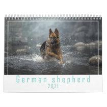 German shepherd  dog 2021 calendar. calendar