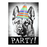 German Shepherd dog 5x7 Paper Invitation Card