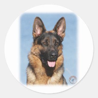 German Shepherd Dog 9Y554D-150 Classic Round Sticker