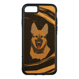 German Shepherd Dog Abstract Carved iPhone 8/7 Case