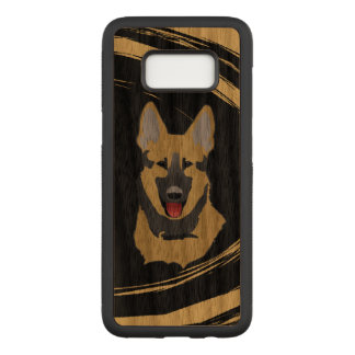 German Shepherd Dog Abstract Carved Samsung Galaxy S8 Case