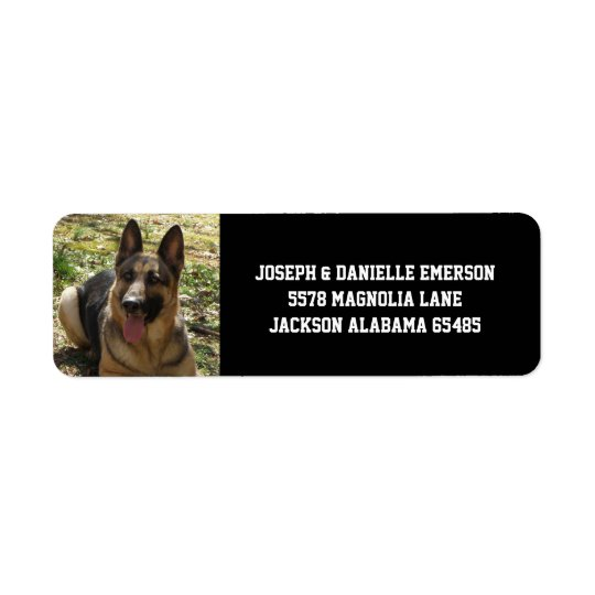 german shepherd dog address labels zazzle com