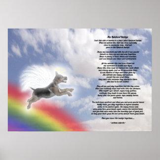 German Shepherd Dog Angel At Rainbow Bridge Poster