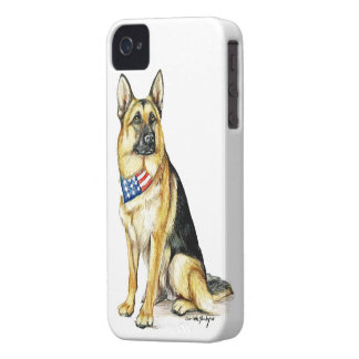 German Shepherd Dog Art Iphone Case Case-Mate iPhone 4 Case