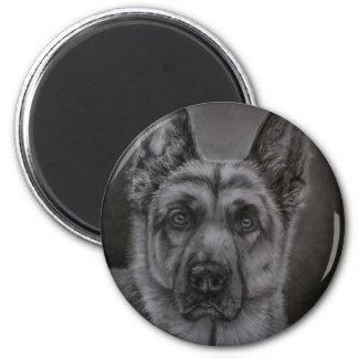 German Shepherd Dog Art - Noble 2 Inch Round Magnet