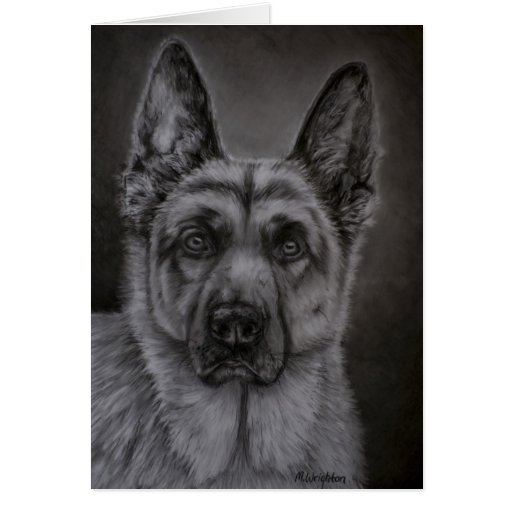 German Shepherd Dog Art - Noble Greeting Card