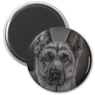 German Shepherd Dog Art - Noble Magnet