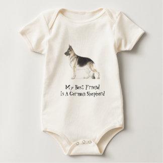 German Shepherd Dog Baby Bodysuit