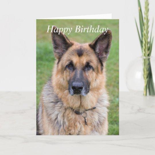 German Shepherd Gift Gift for Dog Lovers Birthday Card for Friend Dog Card Birthday Card Boyfriend Dog Greeting Cards