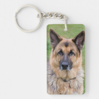 German Shepherd dog beautiful photo keychain