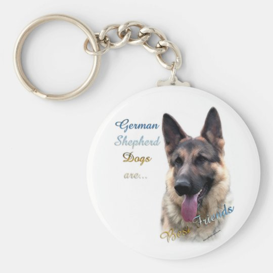 German Shepherd Dog Best Friend Keychain