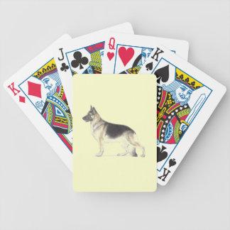 German Shepherd Dog Bicycle Playing Cards