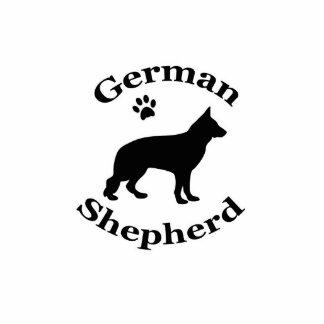 german shepherd dog black silhouette paw print cutout