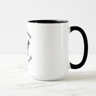 german shepherd dog black silhouette paw print mug