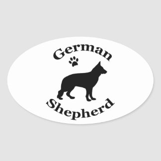 german shepherd dog black silhouette paw print stickers