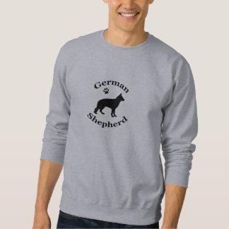 german shepherd dog black silhouette sweatshirt