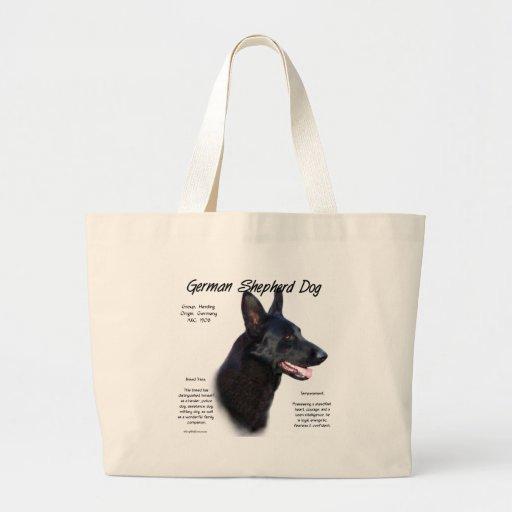 German Shepherd Dog (blk) History Design Jumbo Tote Bag