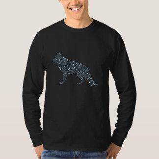 German Shepherd Dog Blue Hearts Men's Shirt