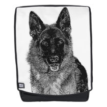 German Shepherd dog boldface backpack