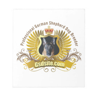 German Shepherd Dog Breeder and Owner Products Notepad