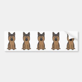 German Shepherd Dog Cartoon Bumper Sticker