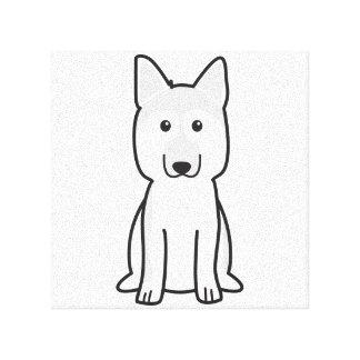 German Shepherd Dog Cartoon Canvas Print