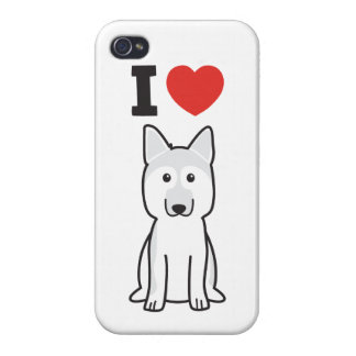 German Shepherd Dog Cartoon iPhone 4 Case