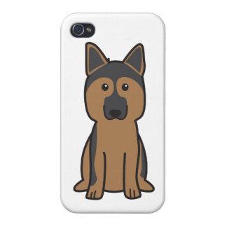 German Shepherd Dog Cartoon iPhone 4 Cases