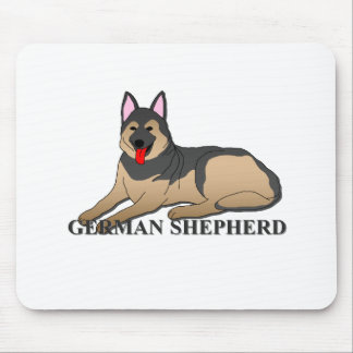 German Shepherd Dog Cartoon Mouse Pad