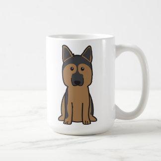 German Shepherd Dog Cartoon Mug
