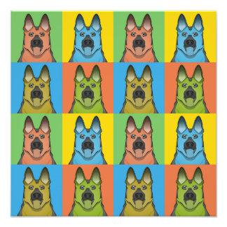 German Shepherd Dog Cartoon Pop-Art Photograph