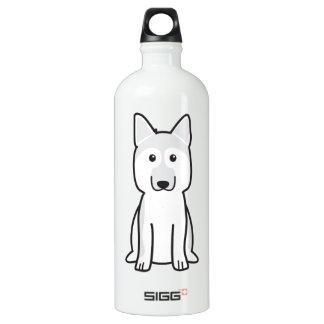 German Shepherd Dog Cartoon Water Bottle