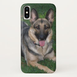 Case-Mate Barely There iPhone X Case with German Shepherd Phone Cases design